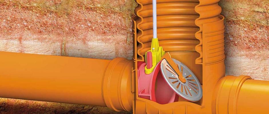 Brunnsbotten med bakvattenventil